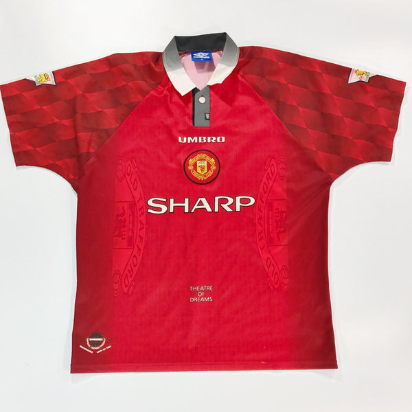 Manchester United 1997-1998 Home Shirt Umbro Cryuff #14 XL