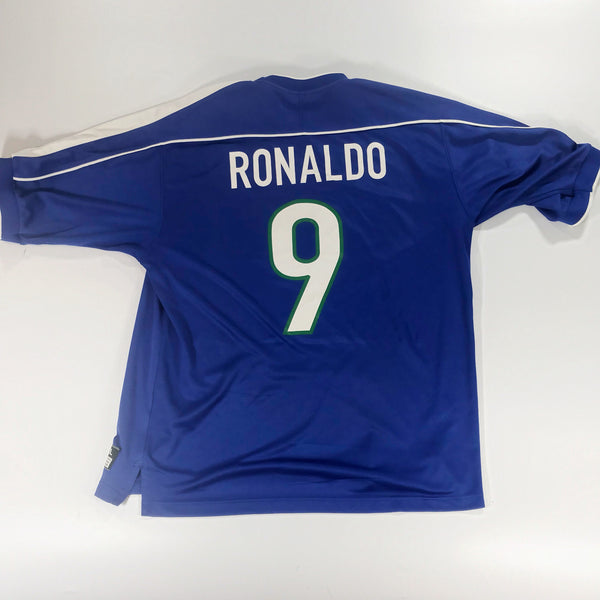 Brazil World Cup 98 Away Shirt Shirt XL Ronaldo #9 R9 Nike