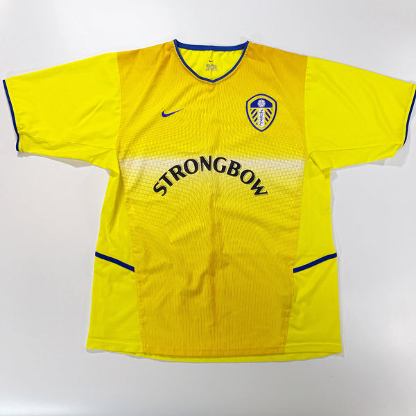 Leeds United 2002-2003 Away Shirt Nike Large