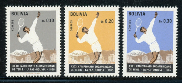 Bolivia MNH Scott #512-514 South American Tennis Championship $$