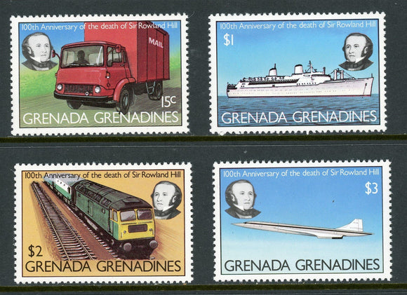 Grenada Grenadines Scott #328-331 MNH Sir Rowland Hill Death Centenary $$