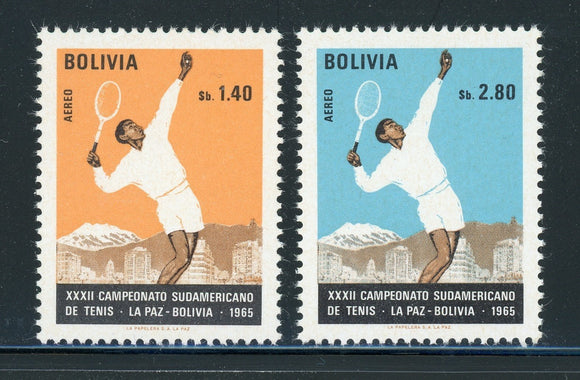 Bolivia MNH Air Post Scott #C293-C294 Tennis Championships CV$3+