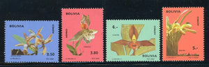 Bolivia MNH Air Post Scott #C327-C330 Flowers ORCHIDS FLORA CV$22+