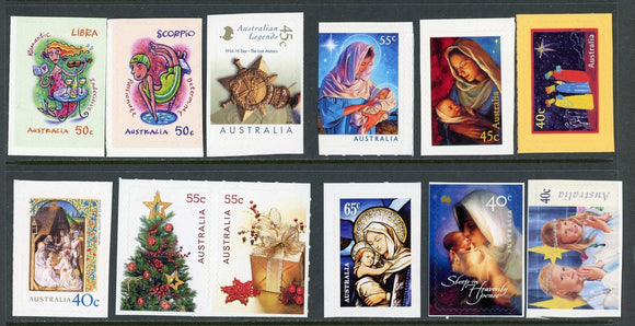 Australia Assort 35 SA Booklet Stamps Art Christmas $$