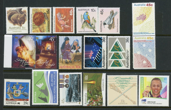 Australia Assort 38 MNH Christmas SPORTS FAUNA $$