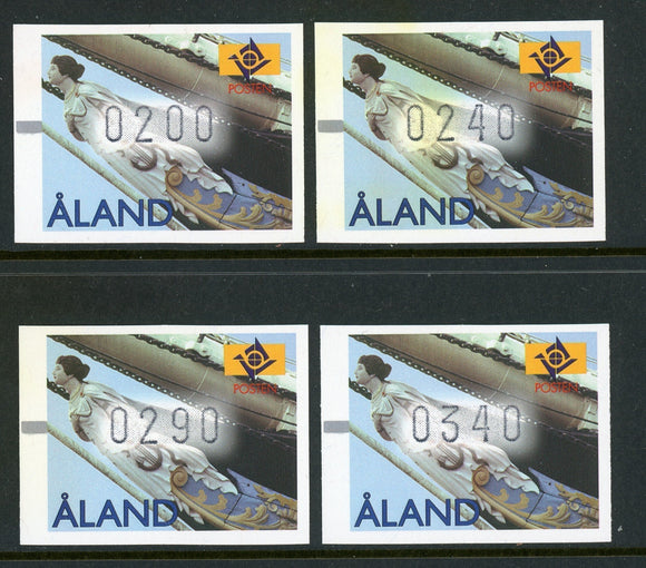 Aland Islands FRAMA LABELS Figurehead 8/9/1997 $$ (ALFR3)
