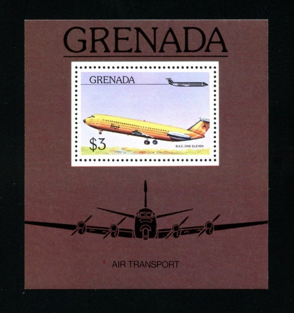 Grenada Scott #755 MNH S/S B.A.C. One-Eleven AVIATION CV$3+