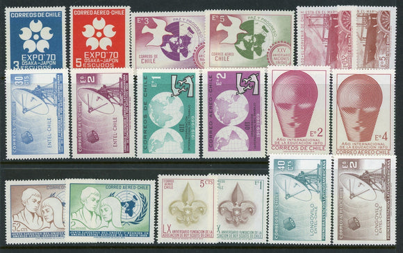 Chile Assortment 23 MNH Pictorial Issues SEE SCAN $$