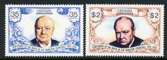 Grenada Grenadines Scott #29-30 MNH Sir Winston Churchill $$