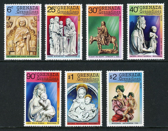 Grenada Grenadines Scott #333-339 MNH Christmas 1979 ART $$