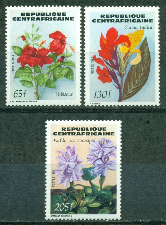 Central African Republic Scott #680-682 MNH Flowers Flora CV$6+