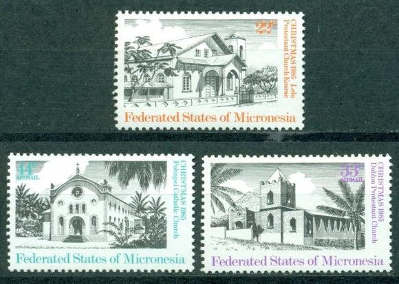 Micronesia Scott #24//C14 MNH Christmas 1985 Churches CV$2+