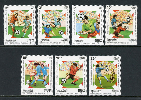 Cambodia Scott #1118-1124 MNH WORLD CUP 1990 Italy Soccer Football CV$6+