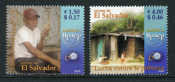 Salvador Scott #1634-1635 MNH America Issue UPAEP Fight Against Poverty CV$2+