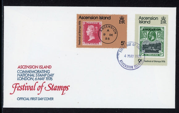 Ascension FIRST DAY COVER 1976 London Festival of Stamps $$