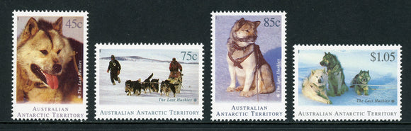 Australian Antarctic Terr Scott #L90-L93 MNH The Last Huskie Dogs CV$8+
