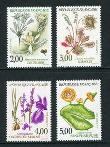 France Scott #2298-2301 MNH Flowers FLORA CV$6+