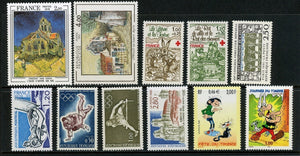 France Assortment 9 MNH Small Assortment FF Denominated $$