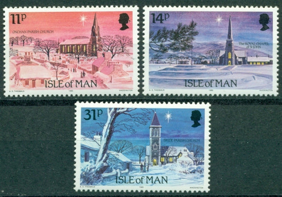Isle of Man Scott #294-296 MNH Christmas 1985 CV$2+