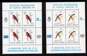 Argentina Scott #B79 NOTE MNH S/S Buenos Aires '78 Inter-American EXPO Birds Fauna CV$62+