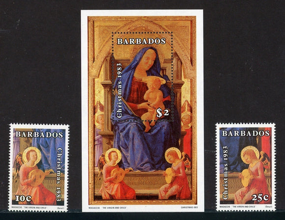 Barbados Scott #617-619 MNH Christmas 1983 ART CV$5+
