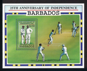 Barbados Scott #817 MNH S/S Independence 25th ANN Cricket SPORTS CV$16+