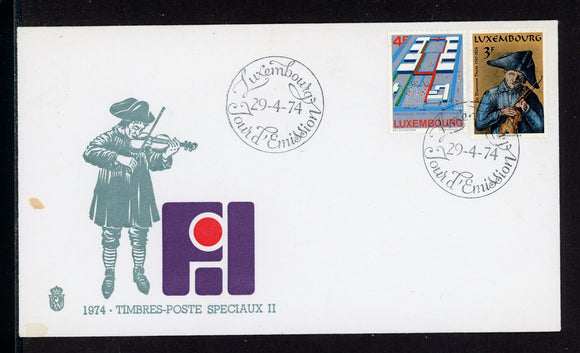 Luxembourg Scott #549-550 FIRST DAY COVER Int'l Fairground Mathias Schou $$