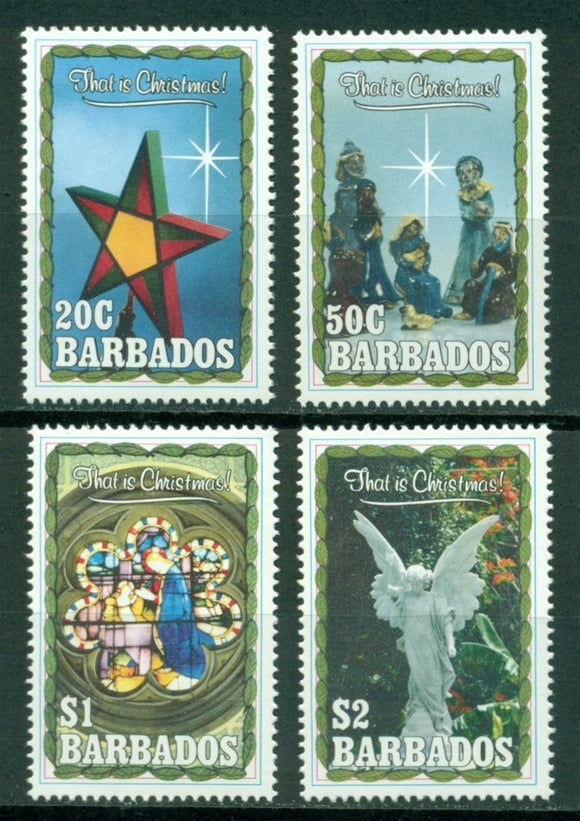 Barbados Scott #791-794 MNH Christmas 1990 CV$9+