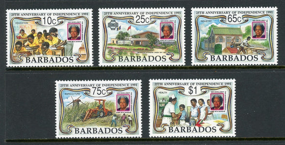Barbados Scott #812-816 MNH Independence 25th ANN CV$5+