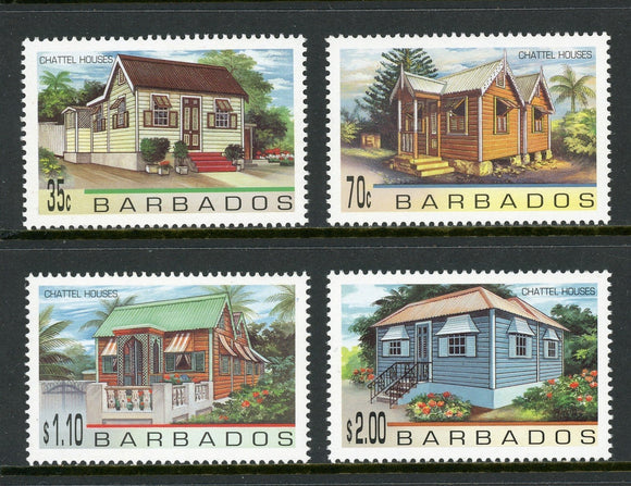Barbados Scott #922-925 MNH Chattel Houses CV$5+