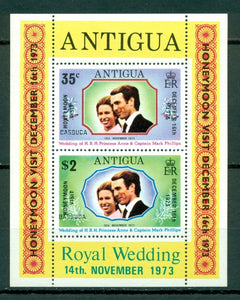 Barbuda Scott #137a MNH S/S OVPT Barbuda Princess Anne Mark Philips CV$6+