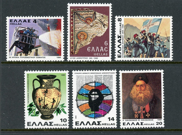 Greece Scott #1356-1361 MNH Religious and Cultural Heritage $$