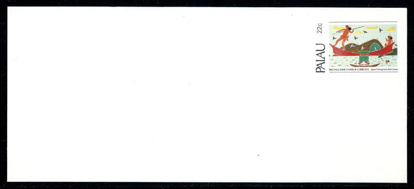 Palau Postal Stationery 1983 Christmas Spear Fishing $$