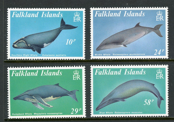 Falkland Islands Scott #501-504 MNH Whales FAUNA CV$12+