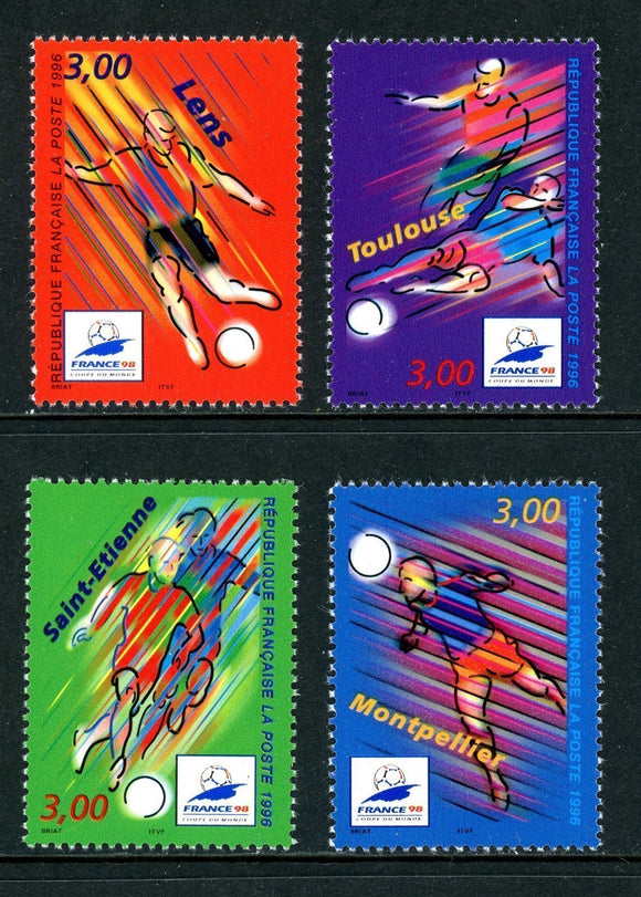 France Scott #2530-2533 MNH WORLD CUP 1998 France Soccer Football CV$5+