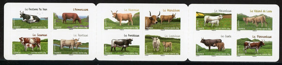France Scott #4581a SA PANE Cattle Breeds FAUNA CV$21+
