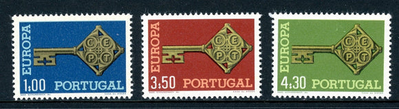 Portugal Scott #1019-1021 MNH Europa 1968 Key CV$9+