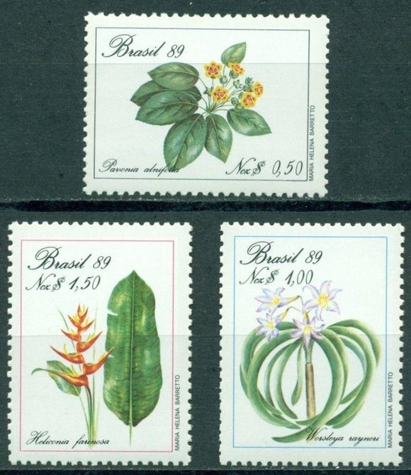Brazil Scott #2168-2170 MNH Flowering Plants CV$4+