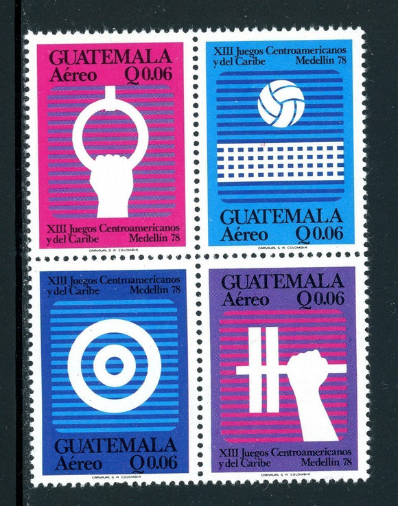 Guatemala Scott #C650a MNH BLOCK Central American and Caribbean Games CV$4+