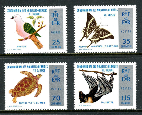 New Hebrides (FR) Scott #202-205 MNH Nature Conservation FAUNA CV$24+