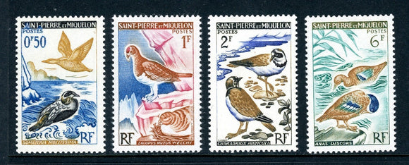 St. Pierre & Miquelon Scott #362-365 MNH Birds Fauna CV$8+