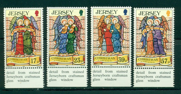 Jersey Scott #651-654 MNH Christmas 1993 Stained Glass CV$4+