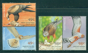 Australia Scott #2003a//2005a MNH PAIRS Birds of Prey FAUNA CV$6+
