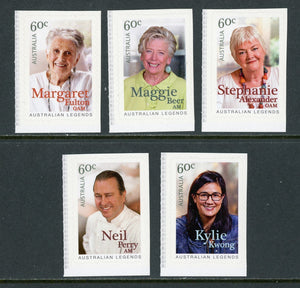 Australia Scott #4039-4043 SA Australian Legends Cooking Celebrities CV$5+