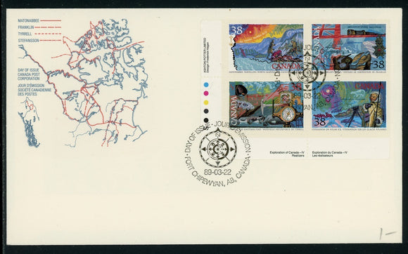 Canada Scott #1233-1236 FIRST DAY COVER Cachet Exploration of Canada $$