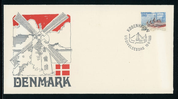 Denmark Scott #669 FIRST DAY COVER Cachet Fishing Boats $$
