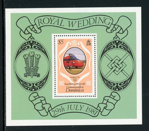 Dominica Scott #704 MNH S/S Prince Charles Lady Diana Wedding $$