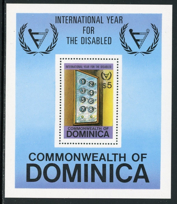 Dominica Scott #738 MNH S/S International Year for the Disabled CV$5+