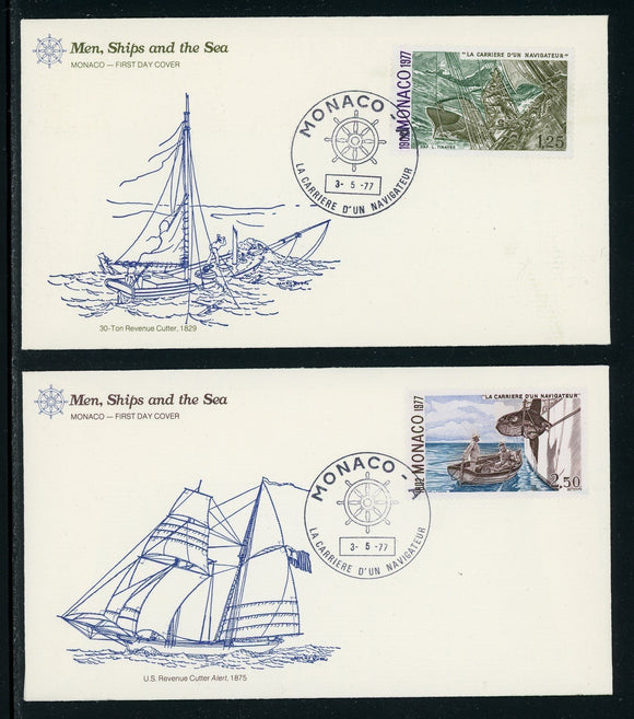 Monaco Scott #1055//1058 FIRST DAY COVER Cachet S Carriers of a Sailor SHIPS $$