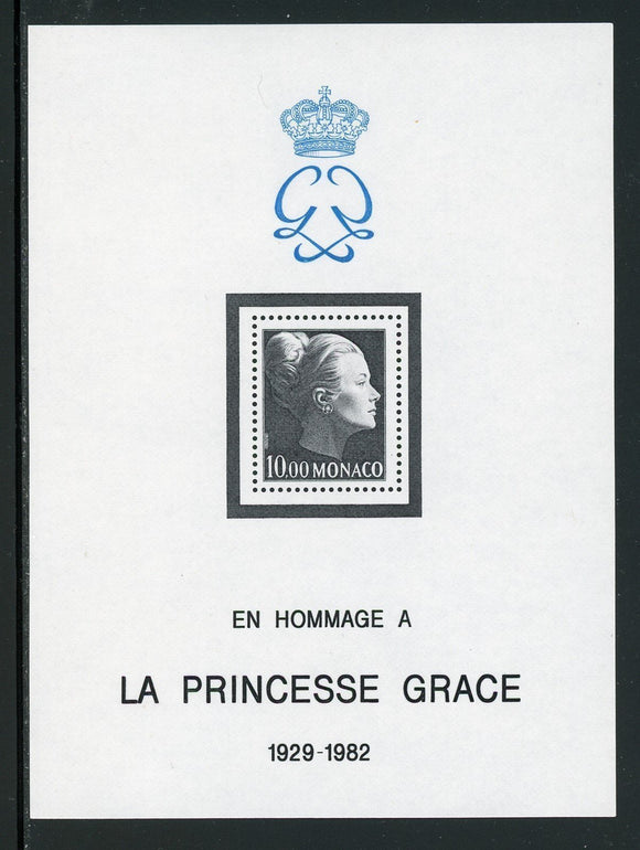 Monaco Scott #1367 MNH S/S Princess Grace In Memoriam CV$7+